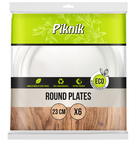 ECO round plate 230 mm (sugarcane)